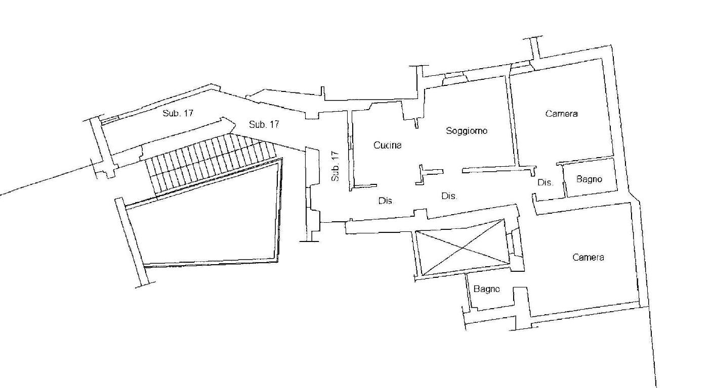 quadrilocale 75 mq centro storico
