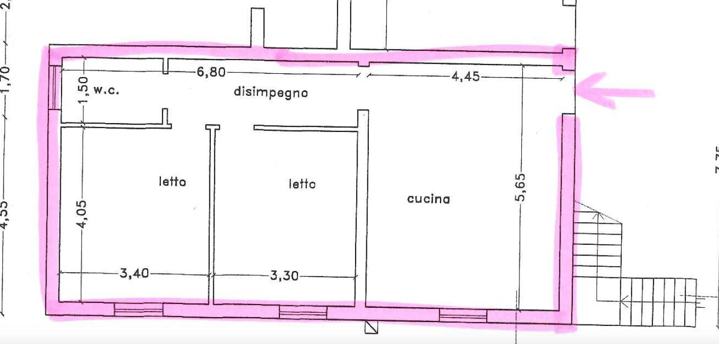 Appartamento semindipendente prima periferia